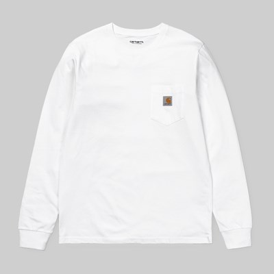CARHARTT WIP LONG SLEEVE POCKET T-SHIRT WHITE