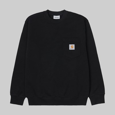CARHARTT WIP POCKET CREW SWEAT BLACK