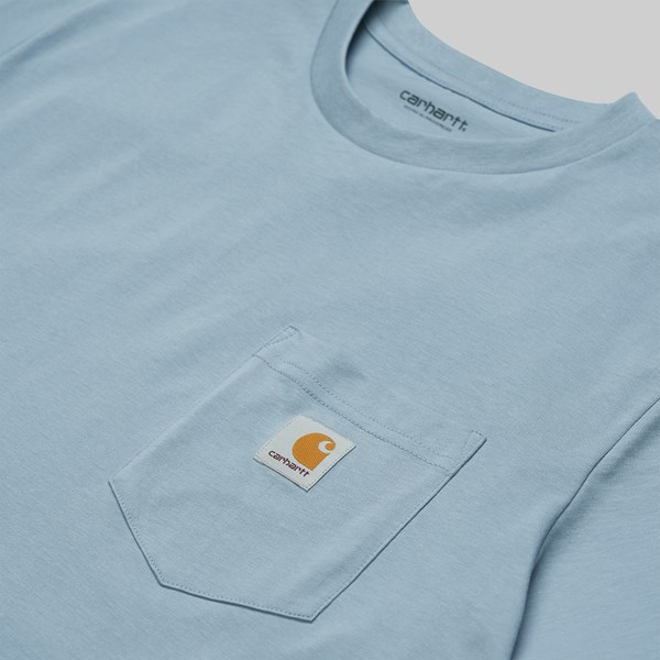 CARHARTT WIP SS POCKET T-SHIRT FROSTED BLUE