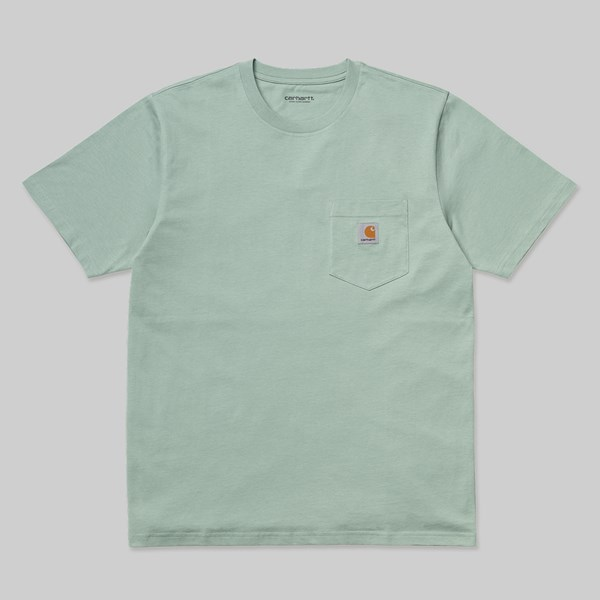 CARHARTT WIP SS POCKET T-SHIRT FROSTED GREEN