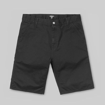 CARHARTT RUCK SINGLE KNEE SHORT BLACK STONE WASH