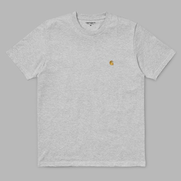 CARHARTT WIP S/S CHASE T-SHIRT ASH HEATHER GOLD