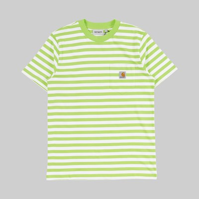 CARHARTT WIP SS SCOTTY POCKET T-SHIRT STRIPE LIMONCELLO