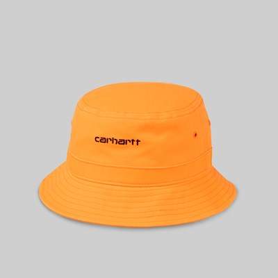 CARHARTT WIP SCRIPT BUCKET HAT POP ORANGE BLACK
