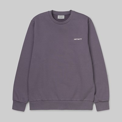 CARHARTT WIP SCRIPT EMBROIDERY SWEAT DECENT PURPLE