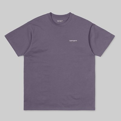 CARHARTT WIP SCRIPT EMBROIDERY SS T-SHIRT DECENT PURPLE