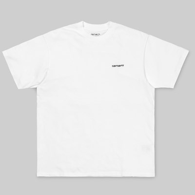 CARHARTT WIP SCRIPT EMBROIDERY SS T-SHIRT WHITE