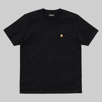 CARHARTT WIP SS CHASE T-SHIRT BLACK GOLD