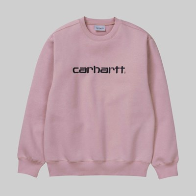 CARHARTT WIP CREW SWEAT BLUSH BLACK