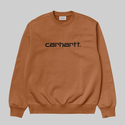 CARHARTT WIP CREW SWEAT RUM BLACK