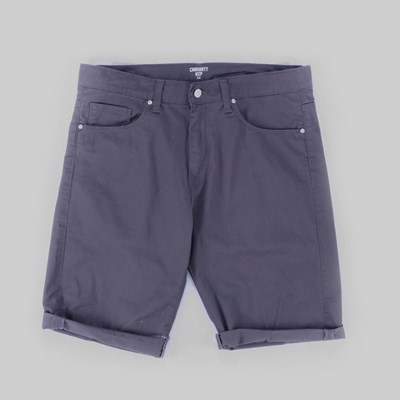 CARHARTT SWELL SHORTS BLACKSMITH RINSED