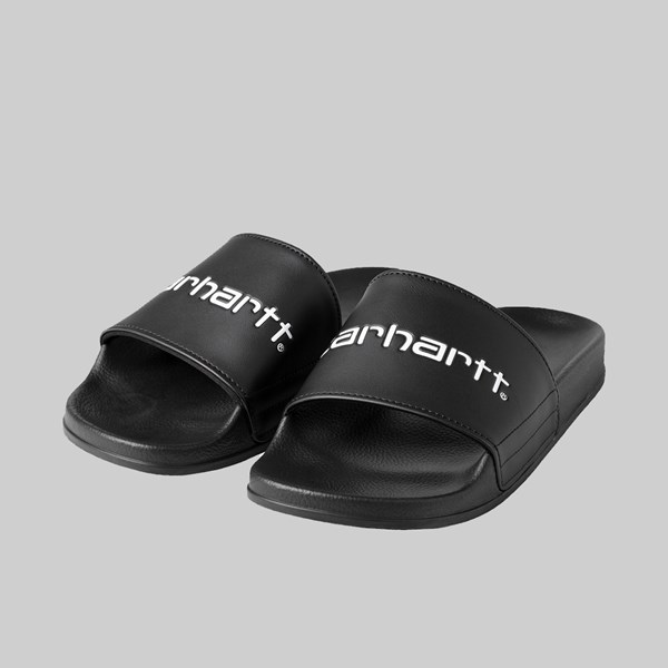 CARHARTT WIP SLIPPER SLIDERS BLACK WHITE