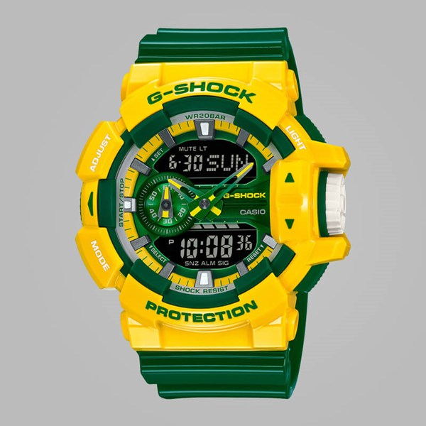 G SHOCK WATCH GA-400CS-9AER YELLOW GREEN