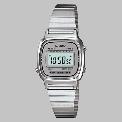 CASIO WATCH LA670WEA-7EF SILVER GREY