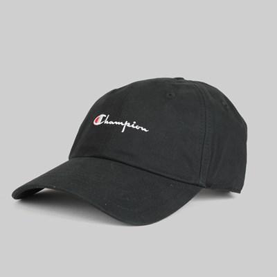 7bd6a7858d320 CHAMPION REVERSE WEAVE SCRIPT BASEBALL CAP BLACK