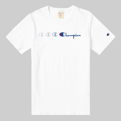 CHAMPION REVERSE WEAVE MOTION T-SHIRT WHITE