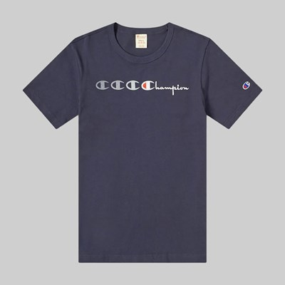 CHAMPION REVERSE WEAVE MOTION T-SHIRT NAVY
