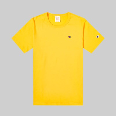 CHAMPION REVERSE WEAVE 'SMALL C' TEE ZINNIA ORANGE