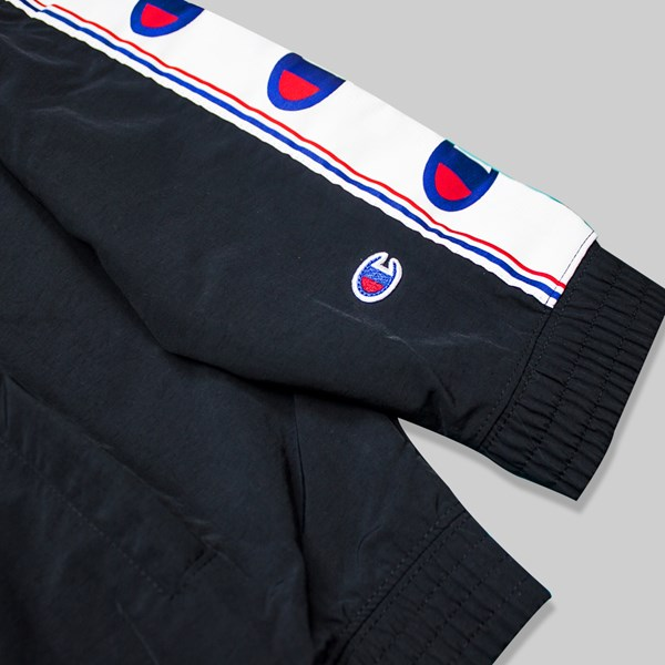 CHAMPION REVERSE WEAVE FULL ZIP TRACK TOP BLACK GREY