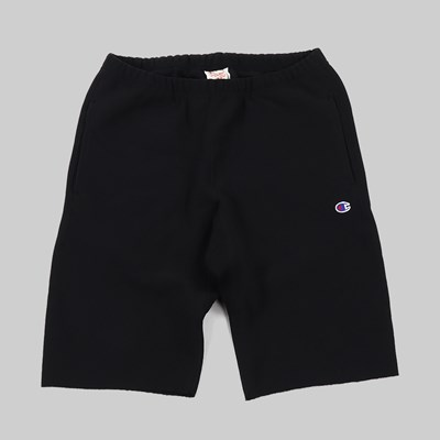 CHAMPION REVERSE WEAVE SHORTS SMALL C BLACK
