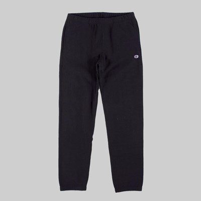 CHAMPION REVERSE WEAVE FLAT CUFF PANTS BLACK