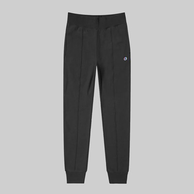 CHAMPION REVERSE WEAVE SMALL C RIP CUFF PANT BLACK