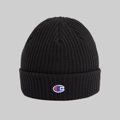 CHAMPION REVERSE WEAVE RIBBED BEANIE BLACK