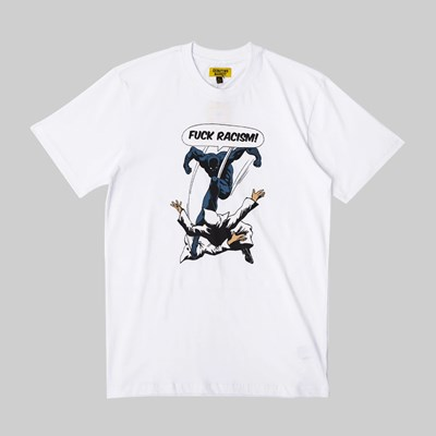 CHINATOWN MARKET FUCK RACISM SS T-SHIRT WHITE