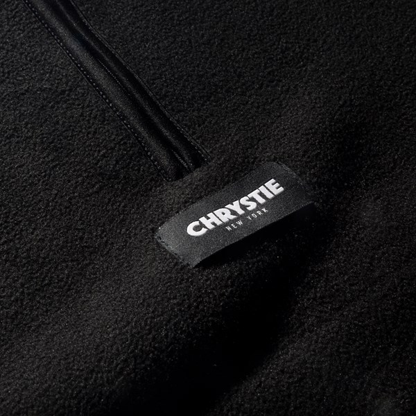 CHRYSTIE NYC FLEECE PULLOVER HOOD BLACK