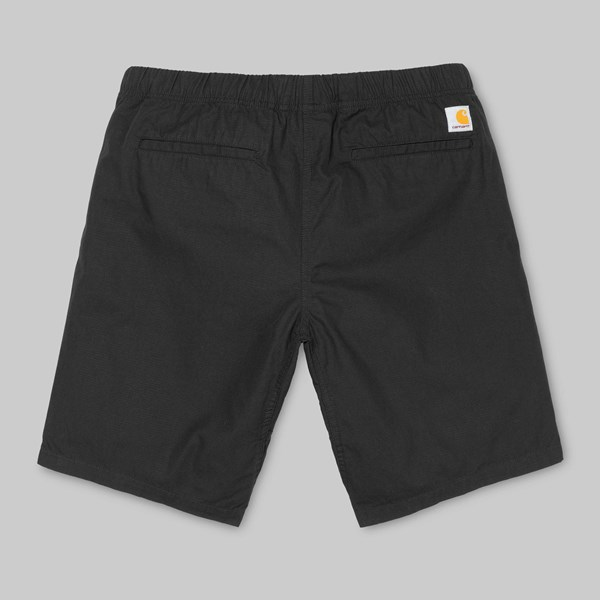 CARHARTT CLIP SHORT BLACK STONE WASHED