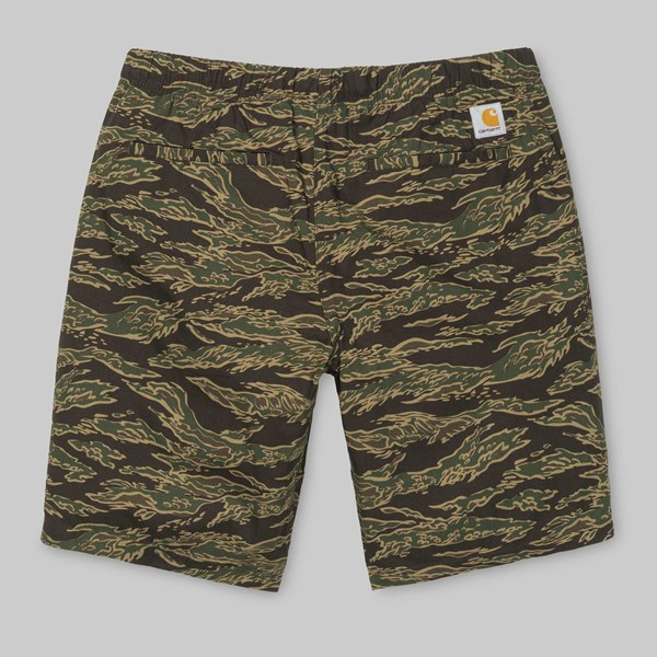 CARHARTT CLIP SHORT CAMO TIGER LAUREL STONE WASH