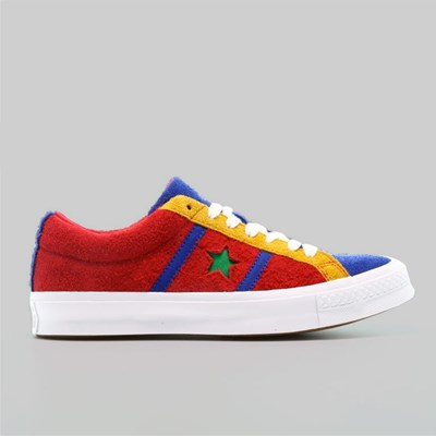 CONVERSE ONE STAR ACADEMY OX ENAMEL RED BLUE