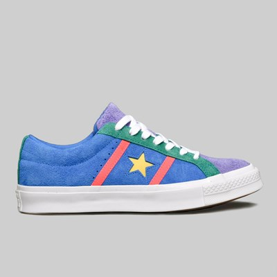 24411ccfd8f9fb CONVERSE ONE STAR ACADEMY OX TOTALLY BLUE RACER PINK. In stock