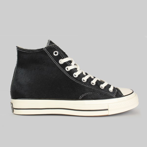 CONVERSE CHUCK 70 HI 'PONY HAIR' BLACK EGRET NATURAL