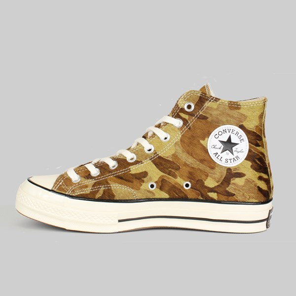 CONVERSE CHUCK 70 HI 'PONY HAIR' GREEN BLACK EGRET