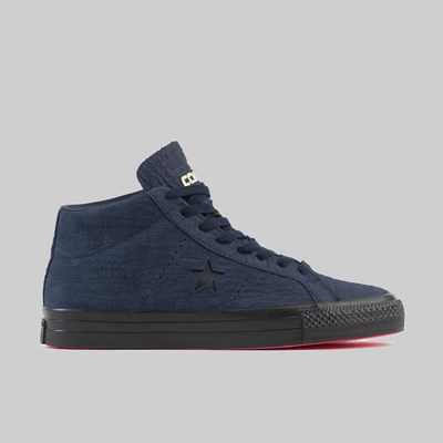 CONVERSE ONE STAR MID HEART OF THE CITY OBSIDIAN HYPER PINK