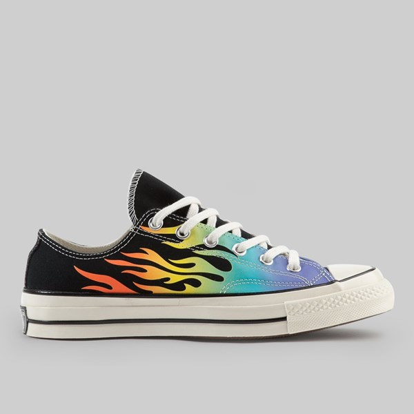 CONVERSE CHUCK 70 OX CHUCK 70 OX BLACK TURF ORANGE EGRET