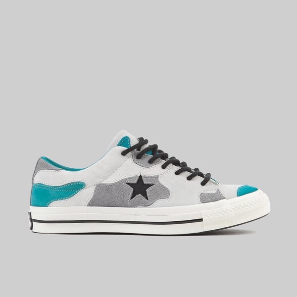CONVERSE ONE STAR CAMO SUEDE VINTAGE WHITE TURBO GREEN