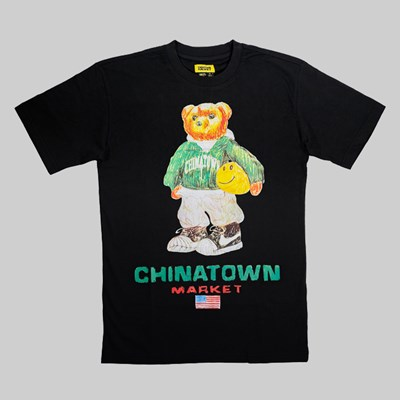 CHINATOWN MARKET SMILEY BASKETBALL BEAR TEE BLACK