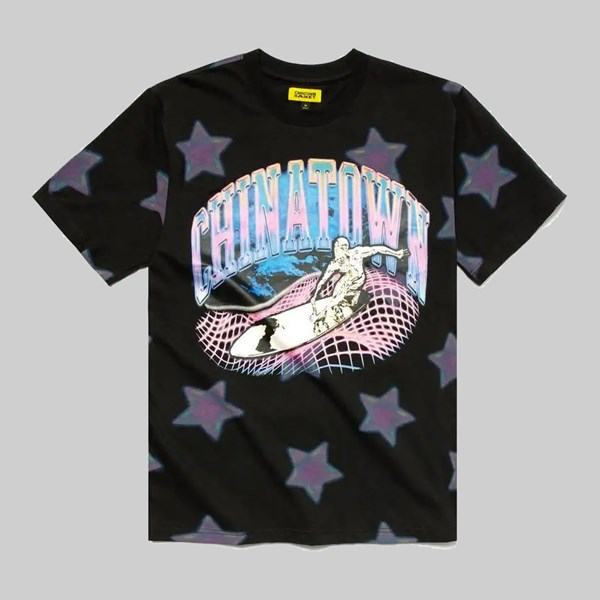 CHINATOWN MARKET RIDE THE WAVE GLITCH SS TEE BLACK