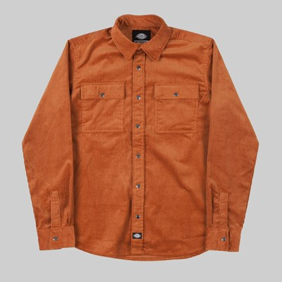 DICKIES IVEL LONG SLEEVE SHIRT RUST