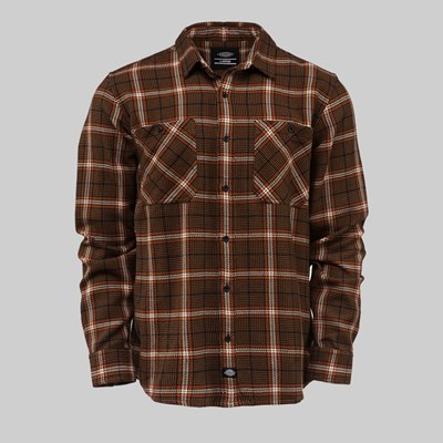 DICKIES KUTTAWA SHIRT BROWN DUCK