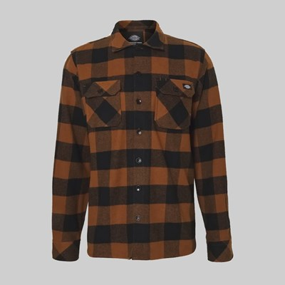 DICKIES LANSDALE SHIRT JACKET BROWN DUCK