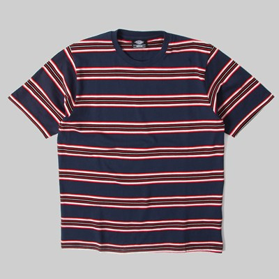 DICKIES LITHIA SPRINGS STRIPE TEE NAVY