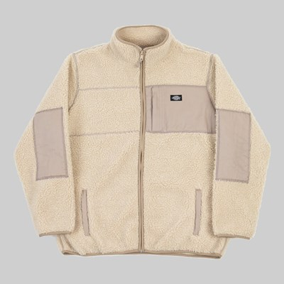 DICKIES RED CHUTE SHERPA ZIP THROUGH LIGHT TAUPE