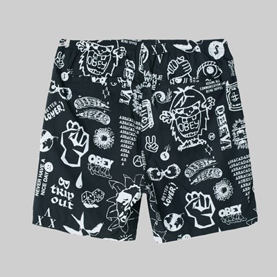 OBEY EASY FLASH SHORT FLASH BLACK