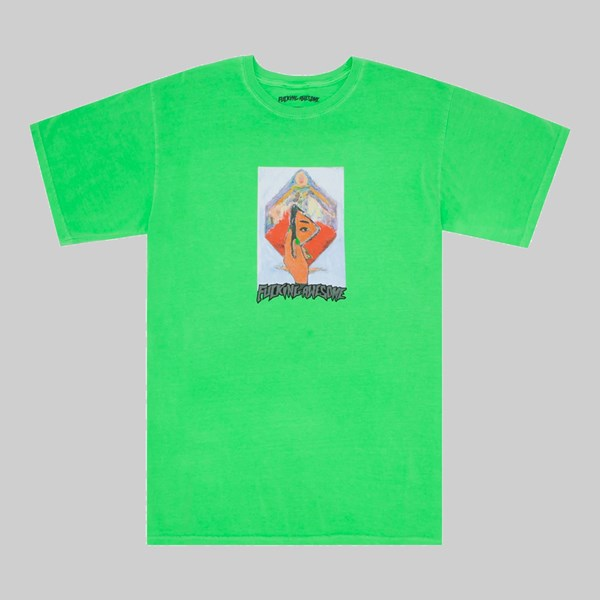 FUCKING AWESOME DILL MIRROR PAINTING PIGMENT TEE GREEN