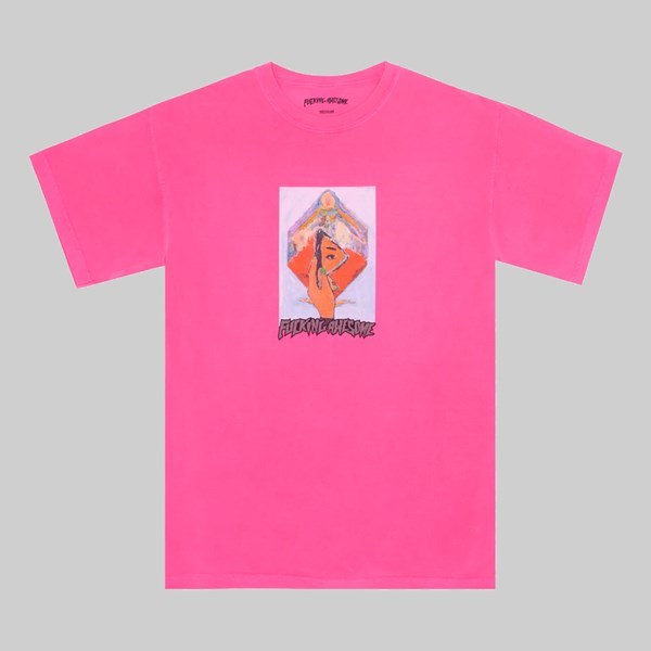 FUCKING AWESOME DILL MIRROR PAINTING PIGMENT TEE PINK