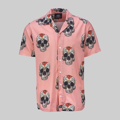 DICKIES BLOSSVALE SS SHIRT FLAMINGO