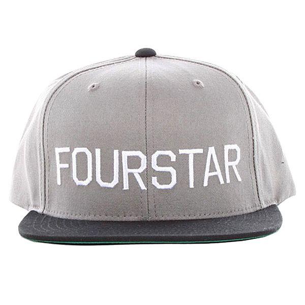 7792262b633 Fourstar Athletic Block Starter Snapback Cap Charcoal Black ...